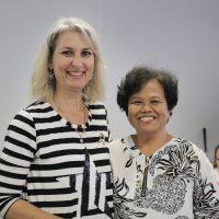 Incoming Morwell coordinator Tanya with assistant coordinator Amparo.